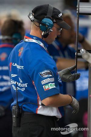 Walker Racing team member at work