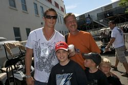 Tampa Bay Lightning hockey club superstar Vincent Lecavalier and a young fan