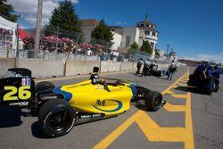 Mathiasen Motorsports car of Jonathan Bomarito is taken to the starting grid