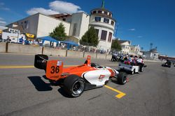 Newman Wachs Racing car of Jonathan Summerton is taken to the starting grid