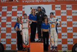 Podium: race winner Jonathan Bomarito, second place Jonathan Summerton, third place Junior Strous