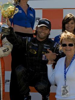 Podium: race winner Jonathan Bomarito