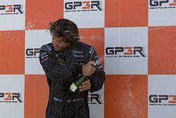 Podium: champagne for Jonathan Bomarito