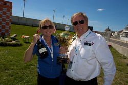 Victory celebrations at Mathiasen Motorsports