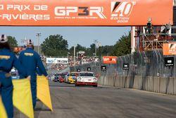 La CMAX / Unitech Racing Porsche 997 (David Riddle, Kris Wilson) se place sur la grille de départ