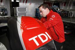 Audi Sport Team Joest team member at work