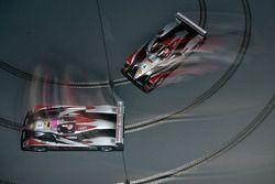 Slot car race in the Audi Sport hospitality
