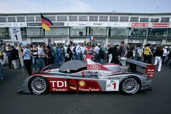 #1 Audi Sport Team Joest Audi R10 TDI on the starting grid