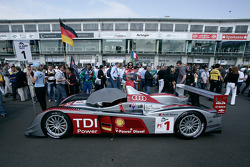 #1 Audi Sport Team Joest Audi R10 TDI on the starting grid