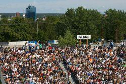 Trois-Rivières fans ready for the race