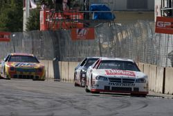 White flag: Scott Steckly leads J.R. Fitzpatrick and Andrew Ranger