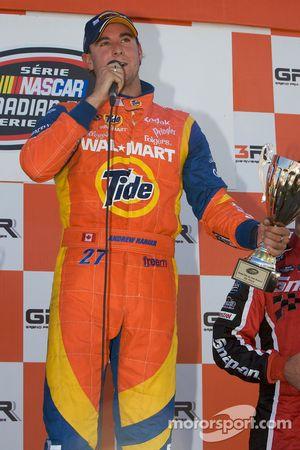 Podium: race winner Andrew Ranger