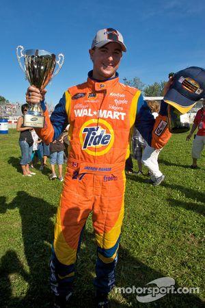 Race winner Andrew Ranger celebrates