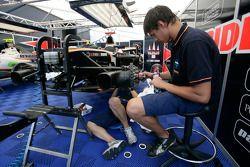 Trident Racing mechanics at work