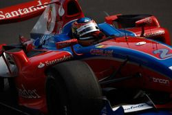 Bruno Senna runs out of fuel on the last lap of the race
