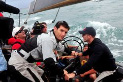 Red Bull Racing and Scuderia Toro Rosso, sailing trip, Mark Webber, Red Bull Racing and Sébastien Bo