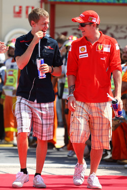 Kimi Raikkonen and Sebastian Vettel in 2008