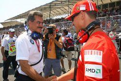 Dr. Mario Theissen, BMW Sauber F1 Team, BMW Motorsport Director and Michael Schumacher, Test Driver,