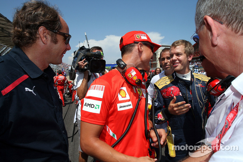 Gerhard Berger, Scuderia Toro Rosso, 50% Team Co Owner, Michael Schumacher, Test Driver, Scuderia Fe