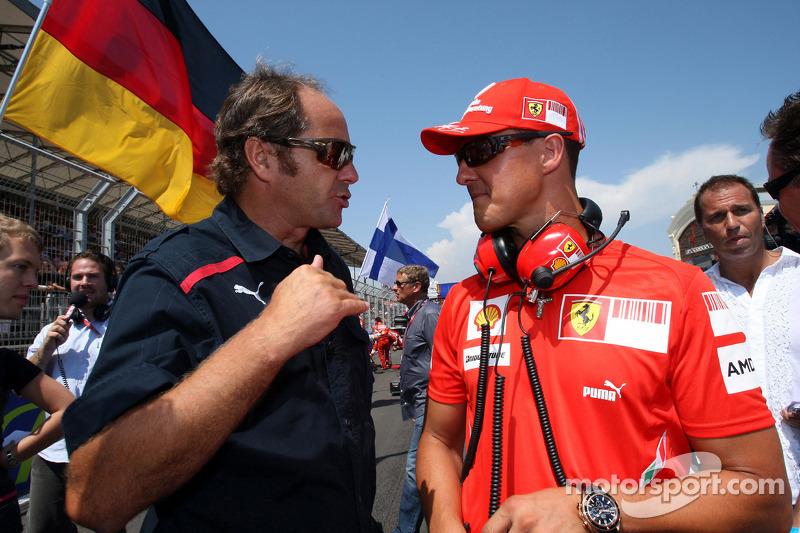 Gerhard Berger, Scuderia Toro Rosso, 50% Team Co Owner and Michael Schumacher, Test Driver, Scuderia