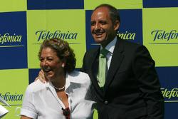 Podium: Rita Barbera, Mayor of Valencia and Francisco Camps, PP President of the Valencia Region