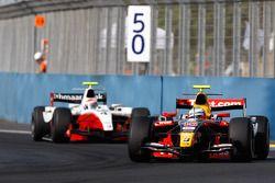 Luca Filippi leads Romain Grosjean