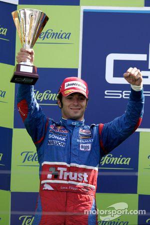 Luca Filippi on the podium