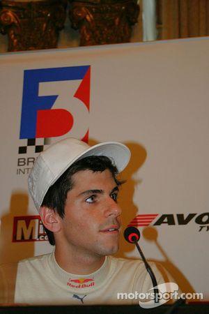 Jaime Alguersuari at the press conference