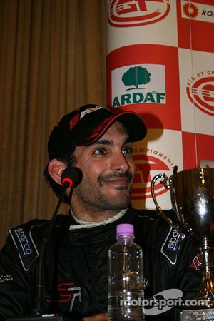 Salman Al Khalifa looks delighted
