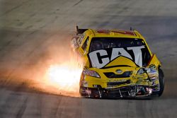 Dave Blaney gets caught up in an accident