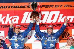 GT500 podium: class and overall winners Tsugio Matsuda and Sébastien Philippe