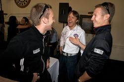 Detroit Grand Prix media almuerzo en el Club de yates de Detroit: Timo Bernhard, Adrián Fernández y