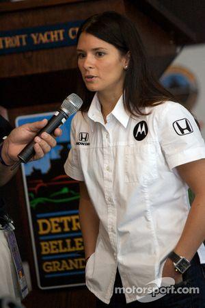 Detroit Grand Prix media lunch at the Detroit Yacht Club: Danica Patrick