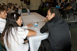 Detroit Grand Prix media lunch at the Detroit Yacht Club: Danica Patrick and Helio Castroneves