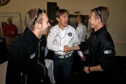 Detroit Grand Prix media lunch at the Detroit Yacht Club: Timo Bernhard, Adrian Fernandez and Ryan B