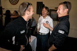 Detroit Grand Prix media lunch at the Detroit Yacht Club: Timo Bernhard, Adrian Fernandez and Ryan Briscoe