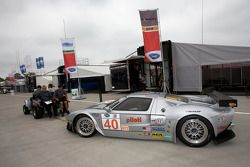 #40 Robertson Racing Doran Ford GT-R back from technical inspection