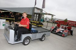 #2 Audi Sport North America Audi R10 TDI back from technical inspection