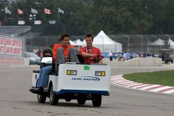 Track inspection: Dirk Muller and Dominik Farnbacher