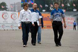 Track inspection: Adrian Fernandez