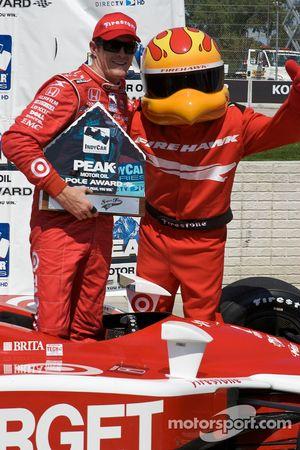 Scott Dixon fête sa pole position