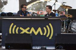 Michael Andretti at the XM Satellite radio stage
