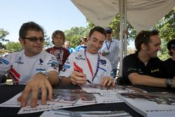 Gil de Ferran and Simon Pagenaud