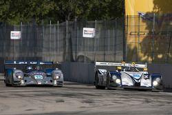 #15 Lowe's Fernandez Racing Acura ARX-01B Acura: Adrian Fernandez, Luis Diaz and #20 Dyson Racing Te