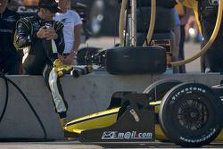 Tomas Scheckter s'étire