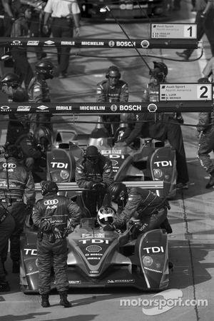 #2 Audi Sport North America Audi R10 TDI: Lucas Luhr, Marco Werner on pitlane