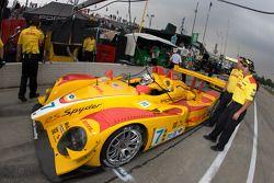 #7 Penske Racing Porsche RS Spyder: Romain Dumas, Timo Bernhard on pitlane