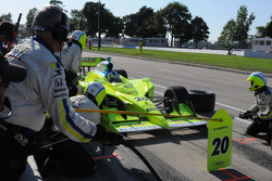 Ed Carpenter entering the pits