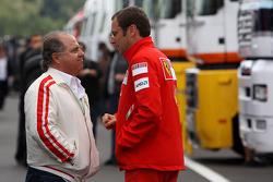 Stefano Domenicali, Scuderia Ferrari, Direktör ve Luis Antonio Massa, babası, Felipe Massa, Scuderia