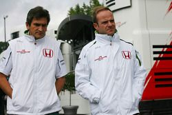 Rubens Barrichello et Jacky Eeckelaert